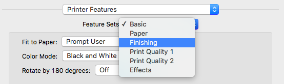 If You Can Not Select Any Of The Options For Staples Or Punches Need To Add A Finisher Printer