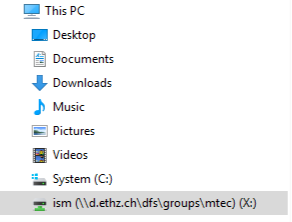 Windows: Map network drive – ITS Services for D-GESS