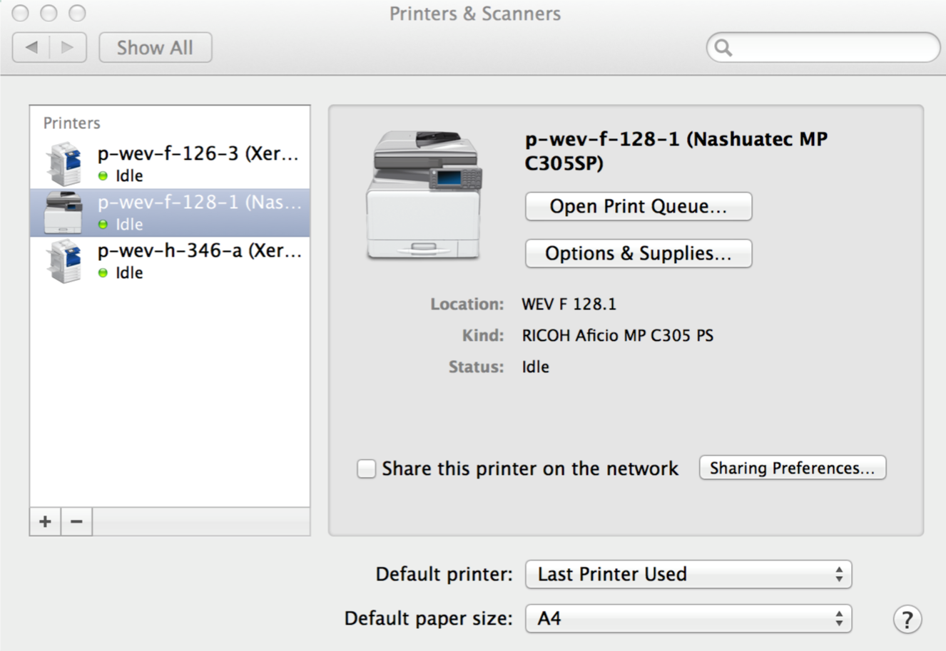 Add a printer (macOS) – ITS Services for D-MTEC
